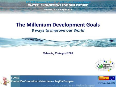 The Millenium Development Goals 8 ways to improve our World