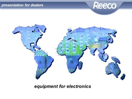 Equipment for electronics presentation for dealers.