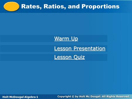 Rates, Ratios, and Proportions