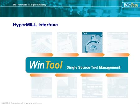 WinTool HyperMILL Interface Single Source Tool Management