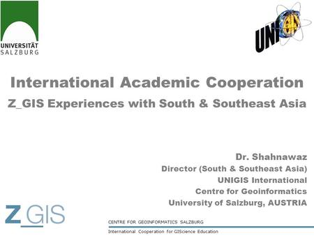 International Academic Cooperation