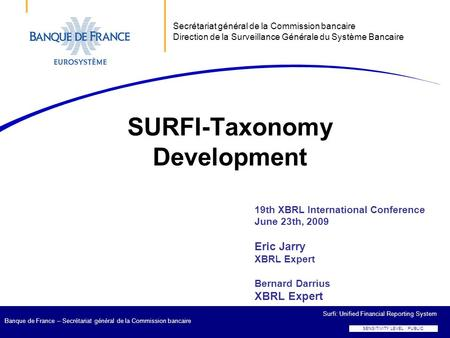 SURFI-Taxonomy Development