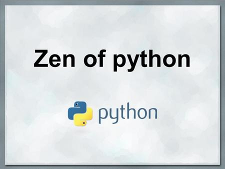 Zen of python. Julien Bouquillon revolunet Productivity Portability Community.