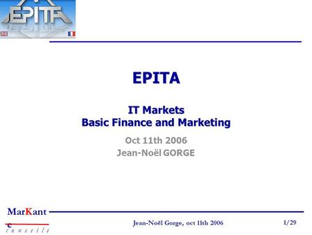 EPITA IT Markets Basic Finance and Marketing
