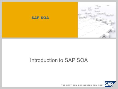 SAP SOA Introduction to SAP SOA. Disclaimer This presentation outlines our general product direction and should not be relied on in making a purchase.