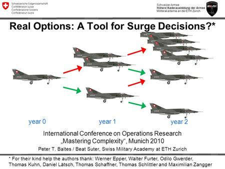 Real Options: A Tool for Surge Decisions?*