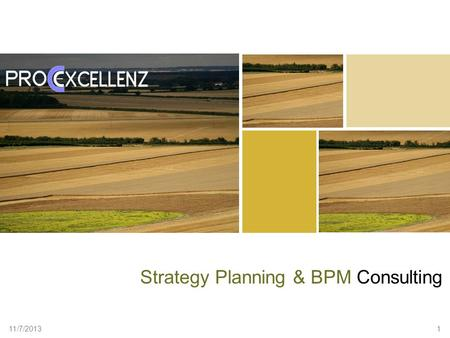 11/7/2013 1 Strategy Planning & BPM Consulting. www.procexcellenz.com 2 Our Value Proposition Provide a World- class framework for Strategy Development.