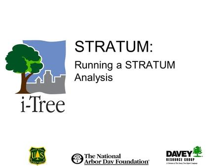 STRATUM: Running a STRATUM Analysis. Creating a STRATUM Project.