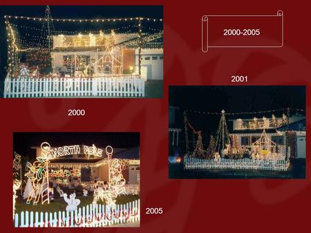 2001 2005 2000-2005 2000. The Christmas season begins at the Widmers in July….