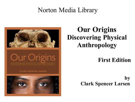 Our Origins Discovering Physical Anthropology First Edition Norton Media Library by Clark Spencer Larsen.