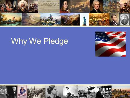 Why We Pledge.
