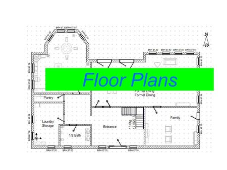 Graphing your ideas! Floor Plans. What is a floor plan? A floor plan is a drawing that shows a room as seen from above. Everything in a floor plan appears.