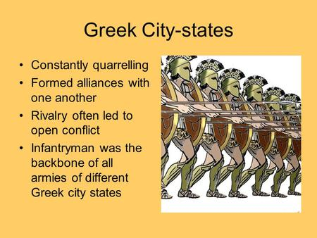 Greek City-states Constantly quarrelling