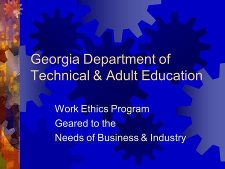 Georgia Department of Technical & Adult Education