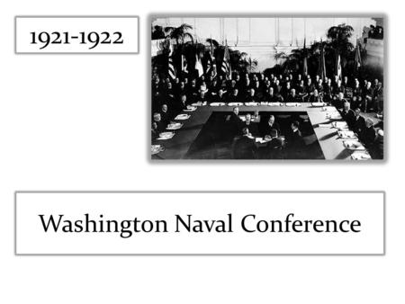 Washington Naval Conference