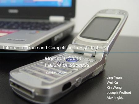 Motorola China Failure of Success