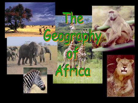 The Geography of Africa.