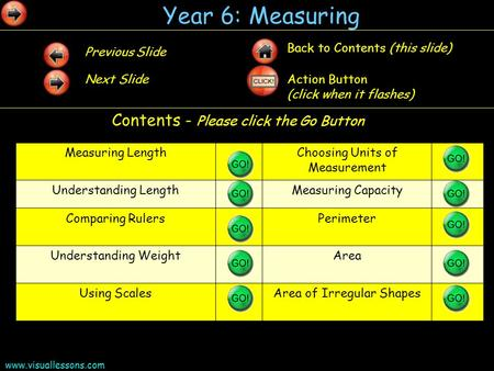 Year 6: Measuring Contents - Please click the Go Button