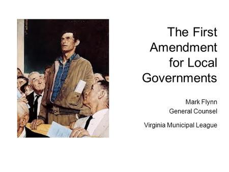 The First Amendment for Local Governments