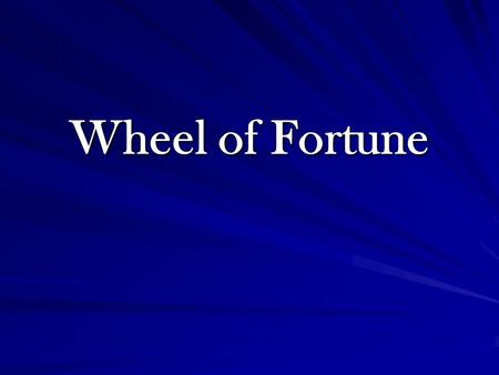 Wheel of Fortune How to set up the game: