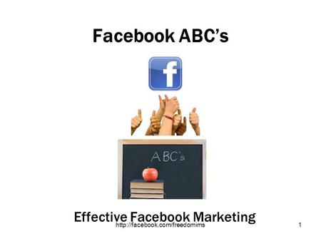 Facebook ABCs Effective Facebook Marketing.