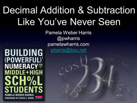 Decimal Addition & Subtraction Like Youve Never Seen Pamela Weber pamelawharris.com