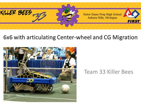 6x6 with articulating Center-wheel and CG Migration Team 33 Killer Bees.