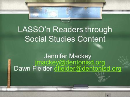 LASSO'n Readers through Social Studies Content