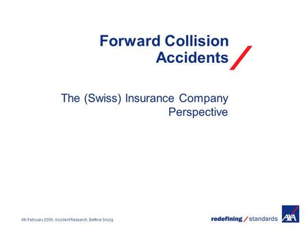 Forward Collision Accidents
