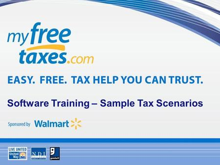 Software Training – Sample Tax Scenarios