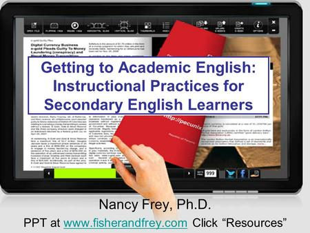 "Nancy Frey, Ph.D. PPT at  Click ""Resources"""