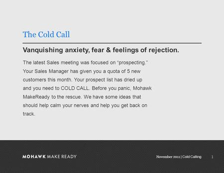 November 2011 | Cold Calling Prospecting Without Fear November 2011 0.