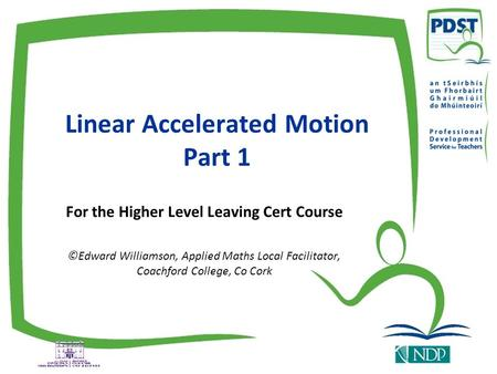 Linear Accelerated Motion Part 1
