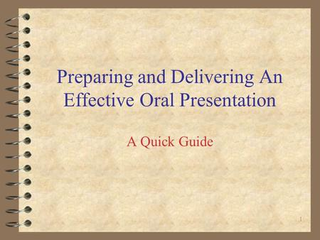 how to make an effective oral presentation