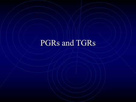 PGRs and TGRs Different Modes of Action- Type I and Type II Type I growth regulators inhibit cell division. Type I growth regulators are foliar absorbed.