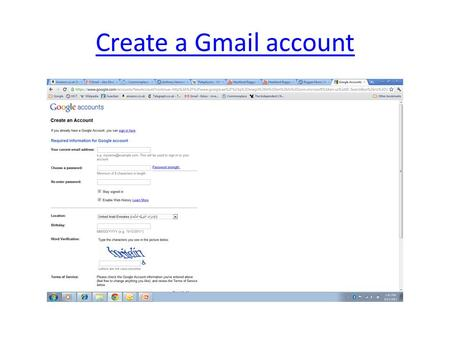 Create a Gmail account. After logging in work in Google Documents.