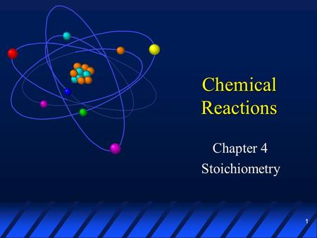 1 Chemical Reactions Chapter 4 Stoichiometry. 2 Chemical Equations æ A chemical reaction shows the formulas and relative amounts of reactants and products.