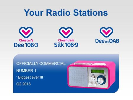 Your Radio Stations OFFICIALLY COMMERCIAL NUMBER 1 Biggest ever !!! Q2 2013.