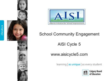 School Community Engagement AISI Cycle 5 www.aisicycle5.com.