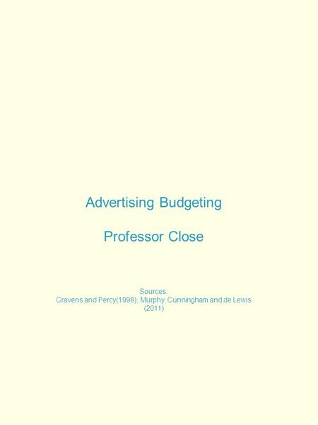 Agency budgeting 2 16 2012 parts of an agency budget for Advertising agency fees