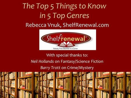 The Top 5 Things to Know in 5 Top Genres