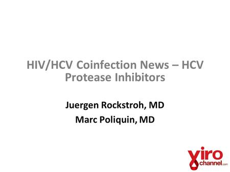 HIV/HCV Coinfection News – HCV Protease Inhibitors
