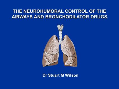 THE NEUROHUMORAL CONTROL OF THE AIRWAYS AND BRONCHODILATOR DRUGS Dr Stuart M Wilson.