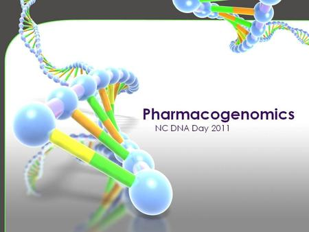 DNA Day - Pharmacogenetics
