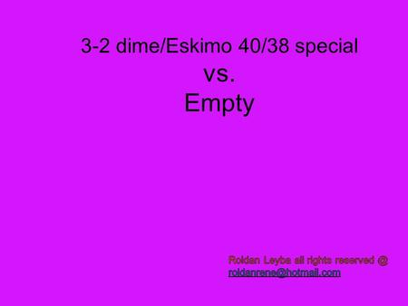 3-2 dime/Eskimo 40/38 special vs. Empty. Playing the No huddle Bubbles –Screens- Clearing Routes-Vertical's and Floods and running QB´s! Prevent Why we.