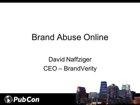 David Naffziger CEO – BrandVerity