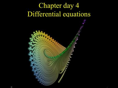 Chapter day 4 Differential equations. The number of rabbits in a population increases at a rate that is proportional to the number of rabbits present.