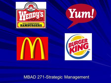 MBAD 271-Strategic Management. Opportunities Global Expansion Mass customization Upscale boutique stores Inter/intra-group mergers.