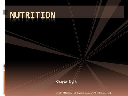 Nutrition Chapter Eight