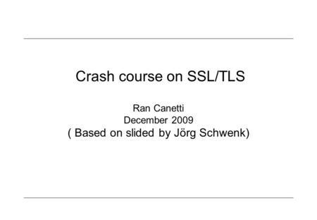 Ran canetti phd thesis